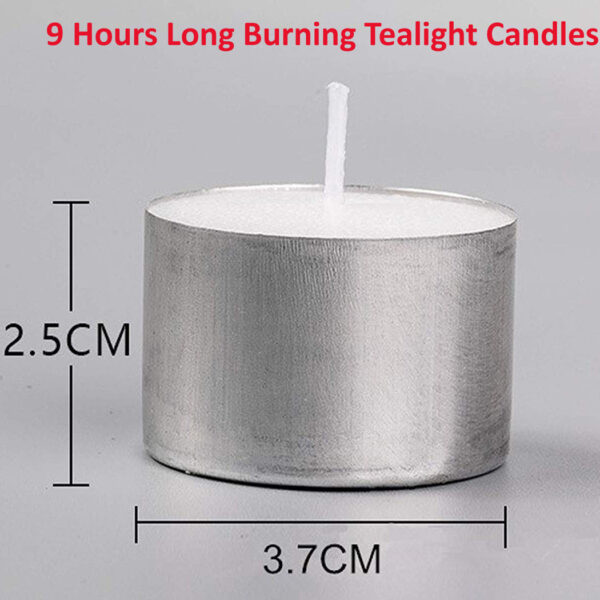 tealight candles for outer decorations